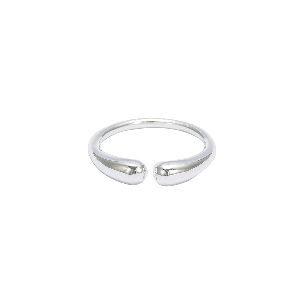 Silver Open Adjustable Ring