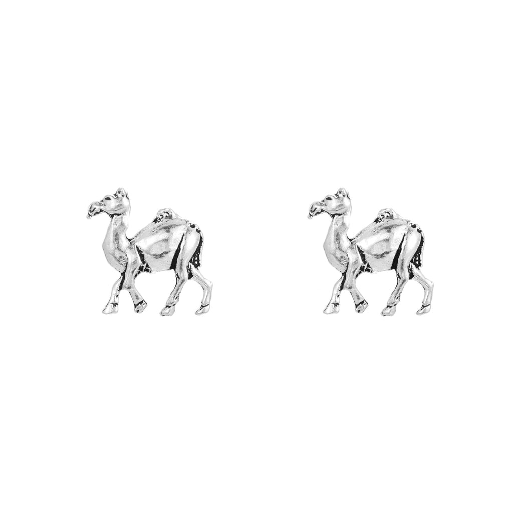Sterling Silver Camel Stud Earrings