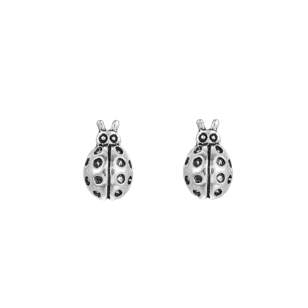 Sterling Silver Ladybug Stud Earrings