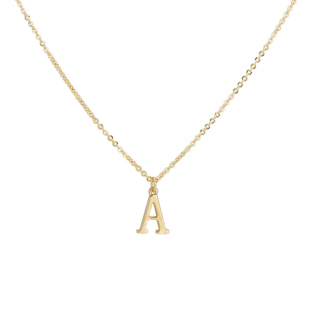 A Gold Plated Dangly Initial Necklace