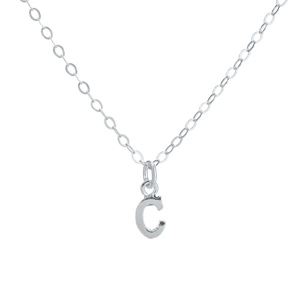 C Initial Sterling Silver Necklace