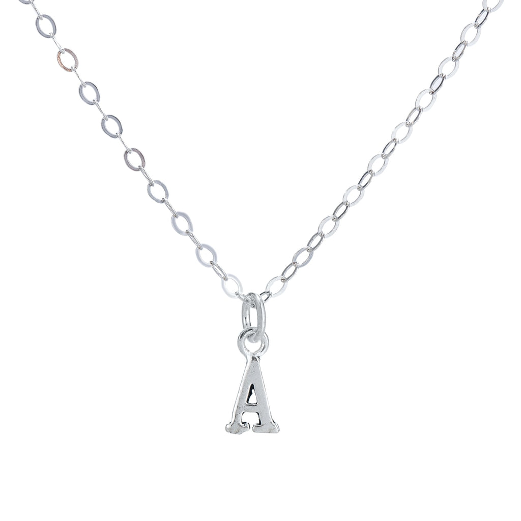 A Initial Sterling Silver Necklace