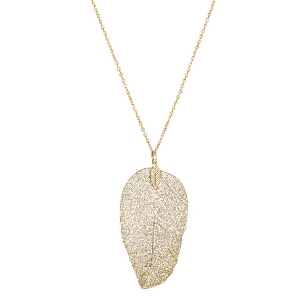 Gold Plated Real Leaf Necklaces