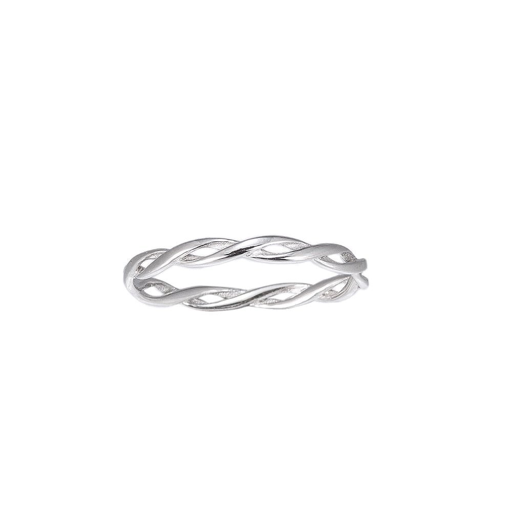 Twisted Stering Silver Ring
