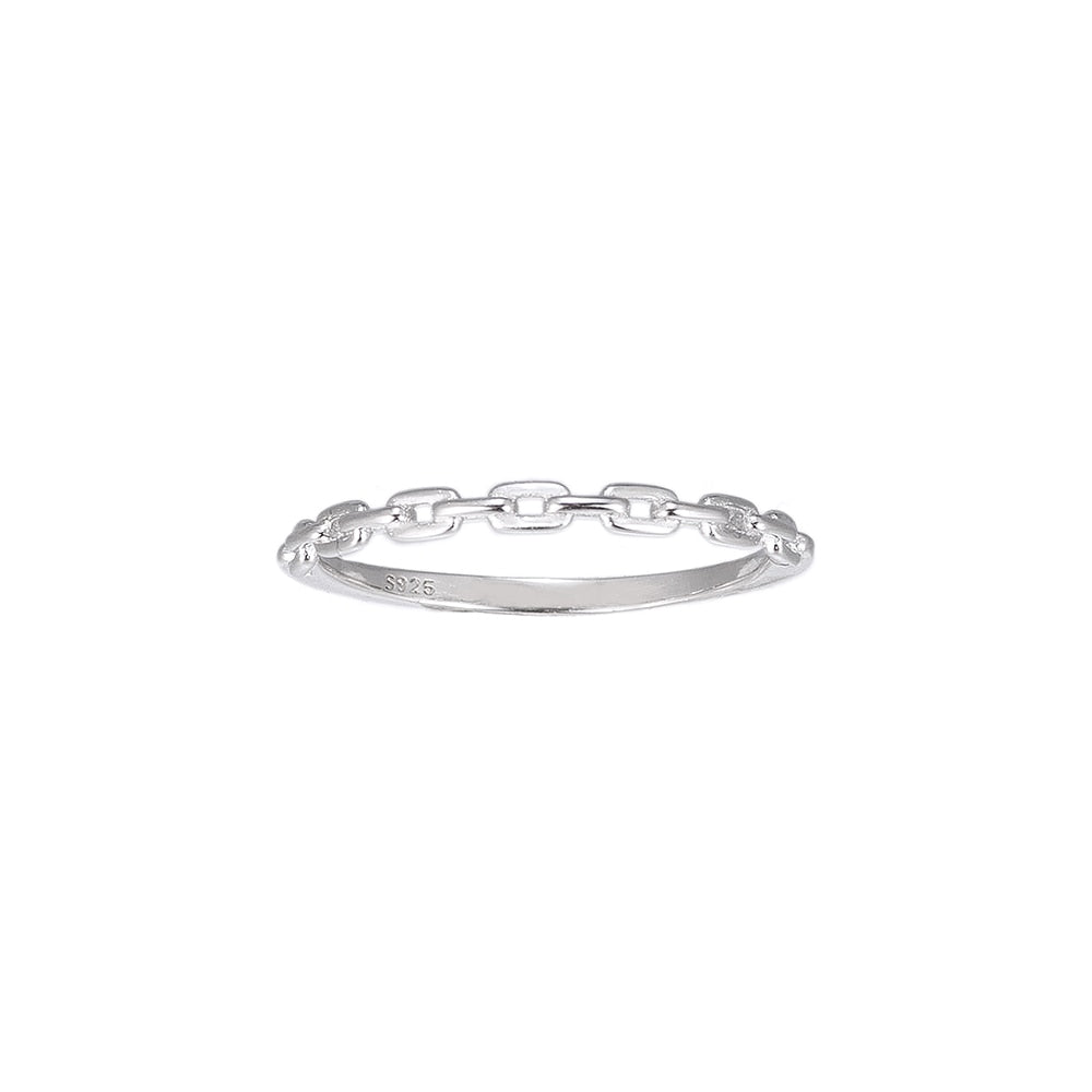 Chain Sterling Silver Ring