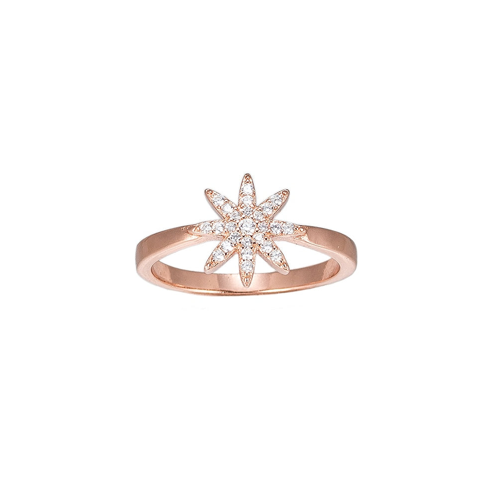 Rose Fairy Star Sterling Silver Ring