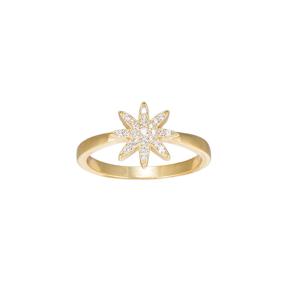Gold Fairy Star Sterling Silver Ring