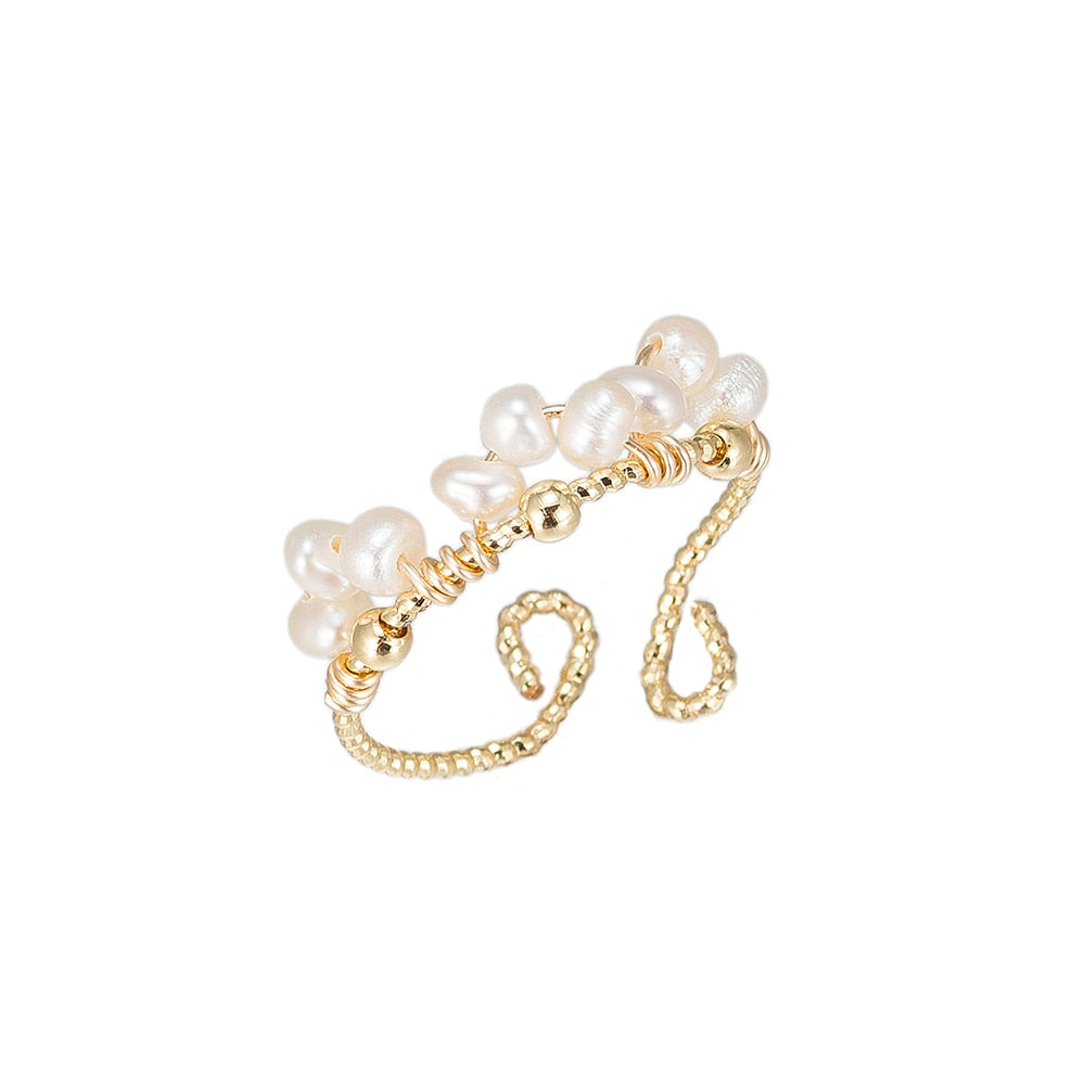Pearl Bunch Gold Plated Ring