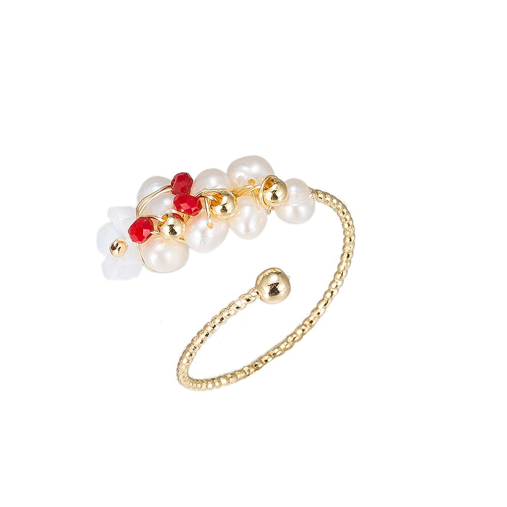 Pearl Branch Gold Plated Ring