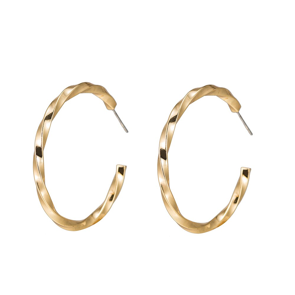 Swivel Hoop Earrings in Gold Plated