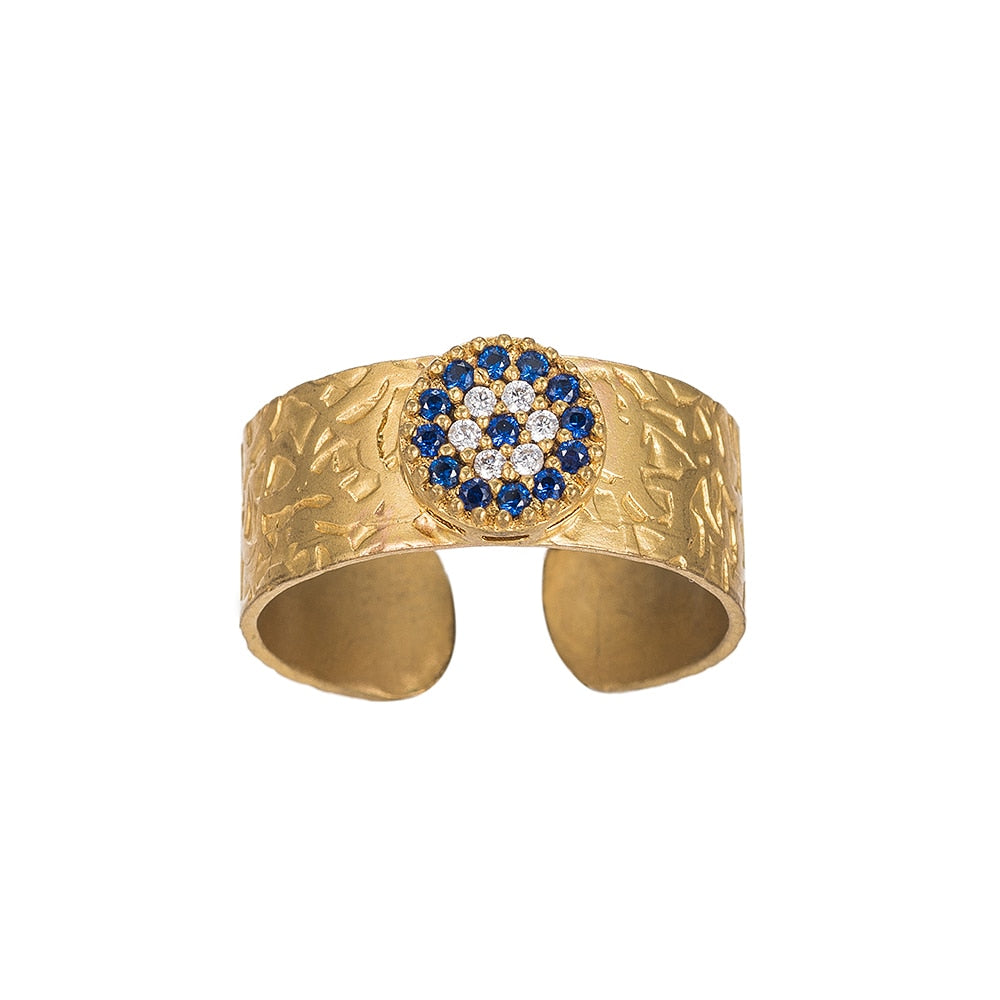 Bold Evil Eye Gold Plated Ring - Gold Plated Ring