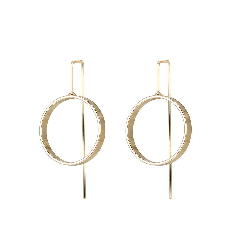 Circle Earrings in Gold Plated