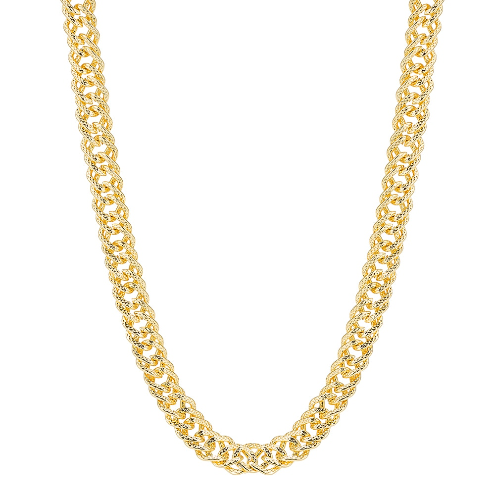 Gold Plated Wheat Chain Necklace