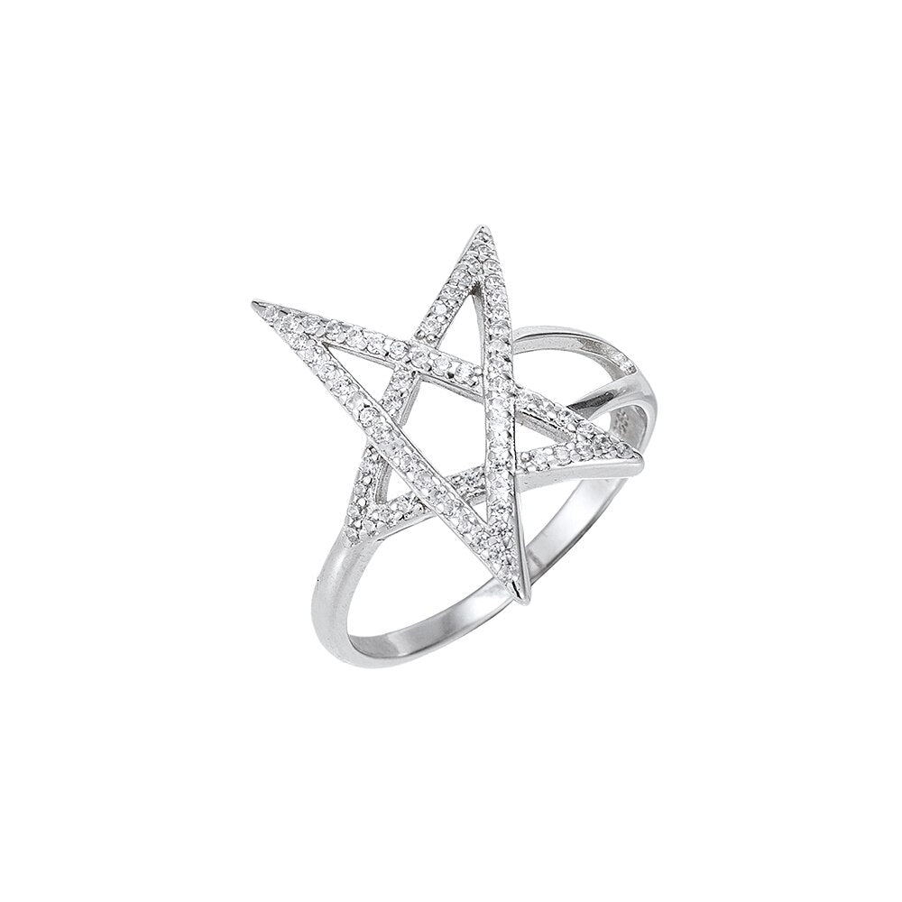 Sterling Silver Large Star Rings