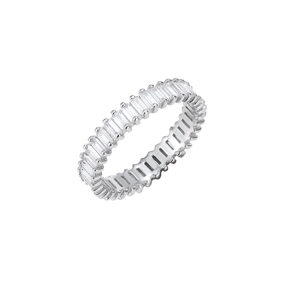 Sterling Silver Baguette Band Ring