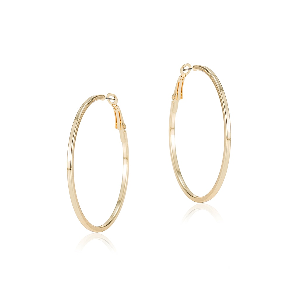 Gold Plated Classic Hoop Earrings