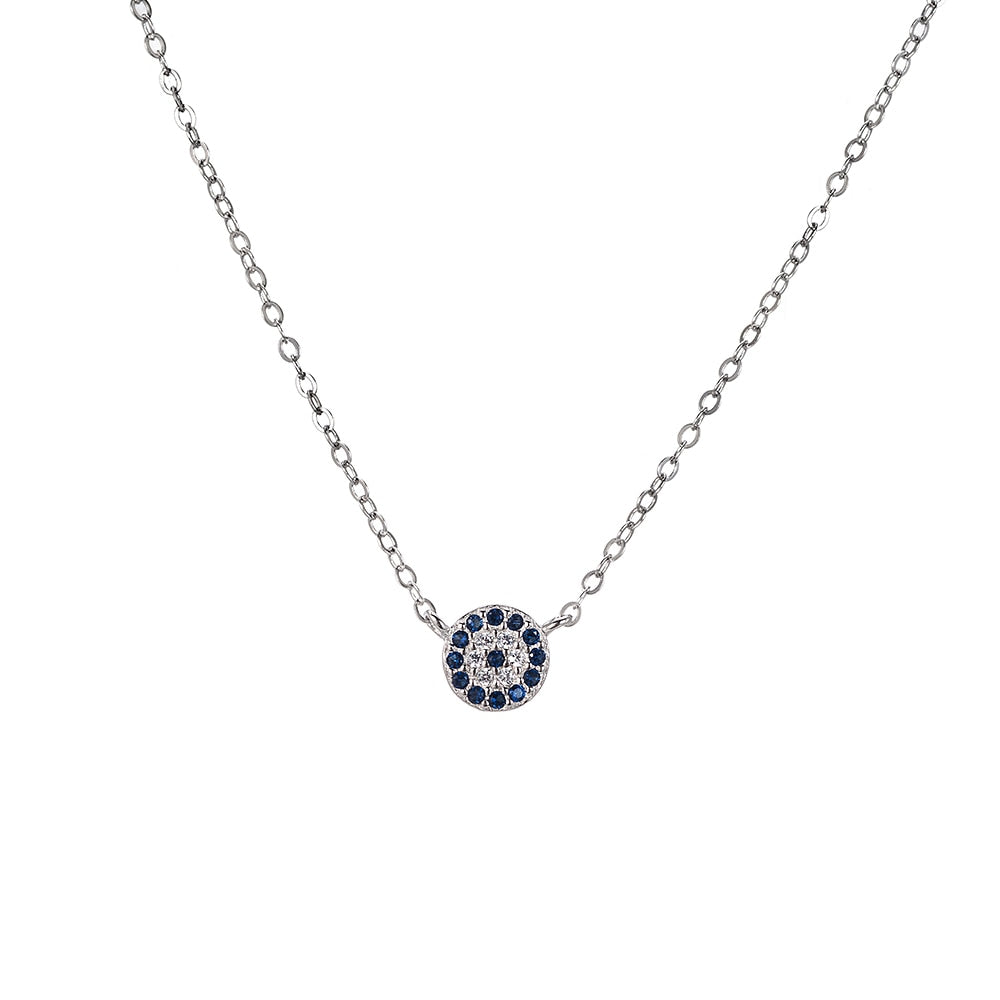 Evil Eye Sterling Silver Necklace - Sterling Silver