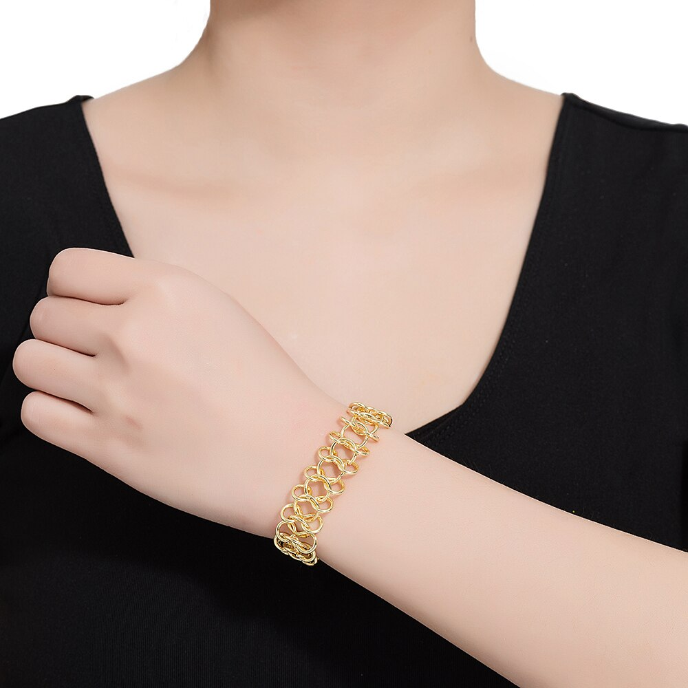 Gold Plated Thick Chain Bracelet