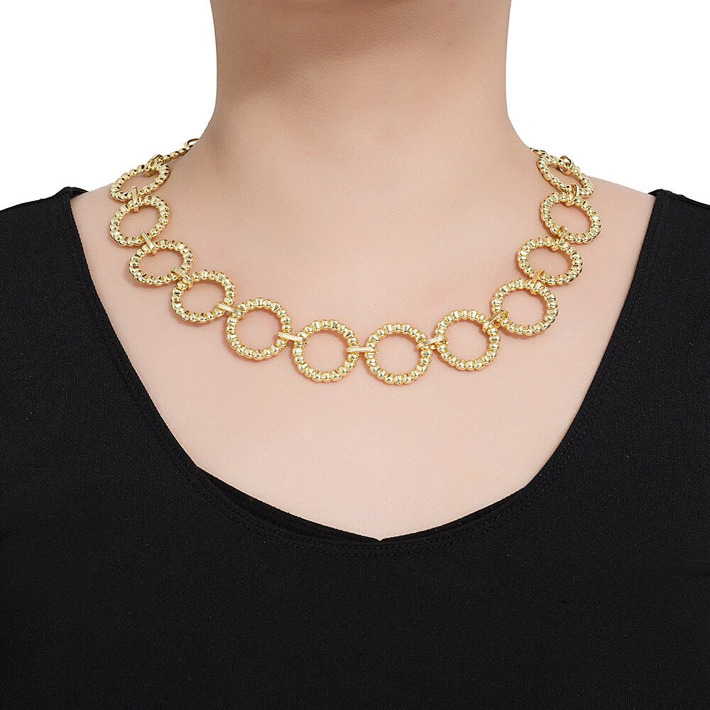 Stainless Steel Round Chain Necklace