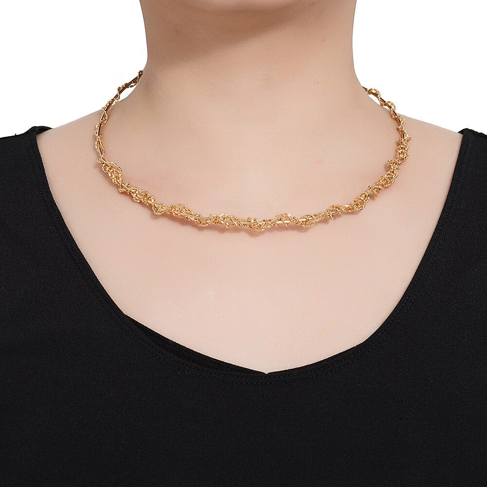 Stainless Steel Chain Choker Necklace