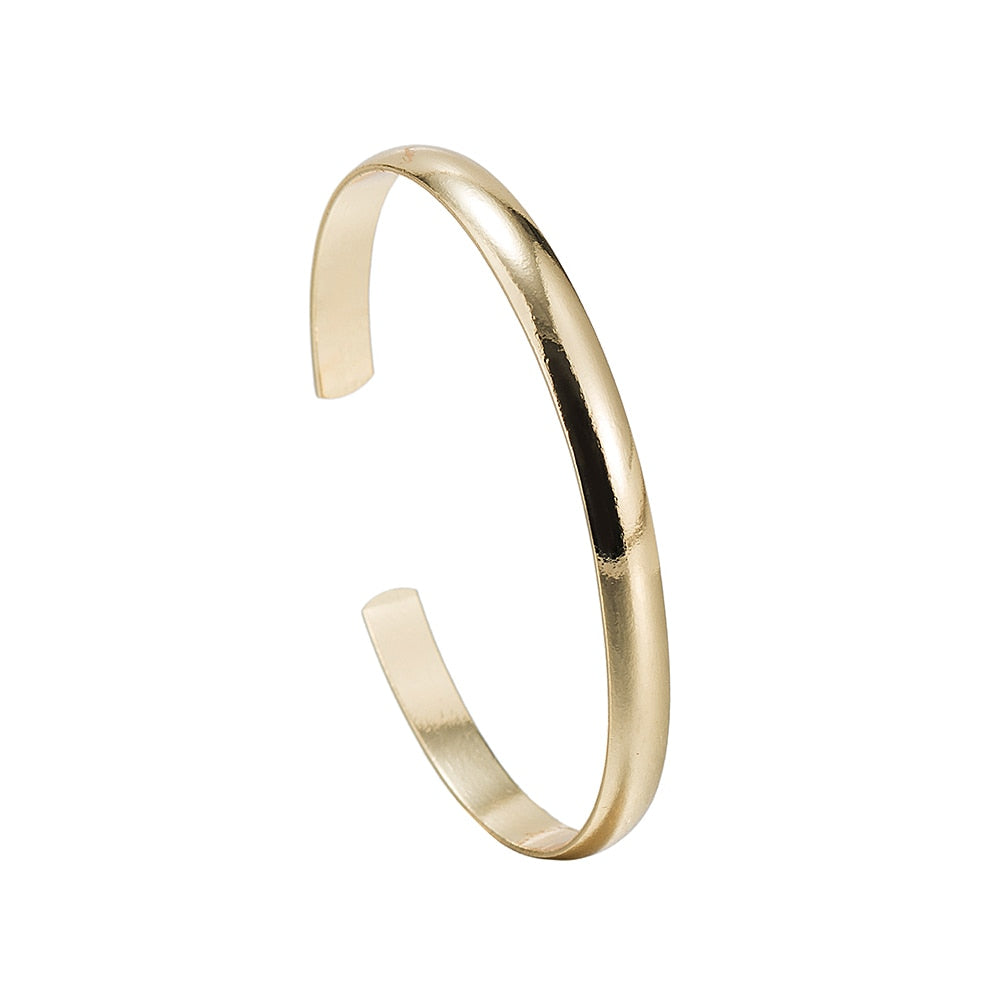 Stainless Steel Thick Bangle