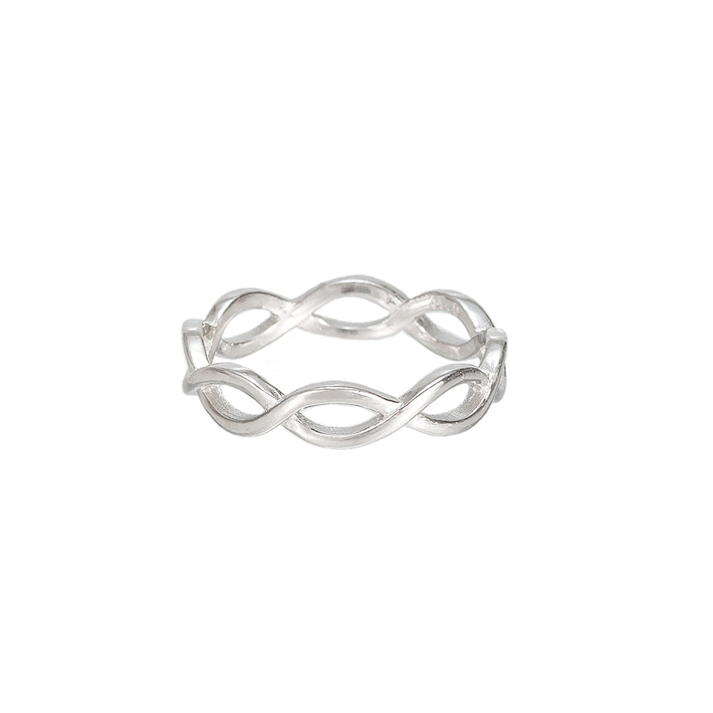 Silver Full Band Infinity Ring