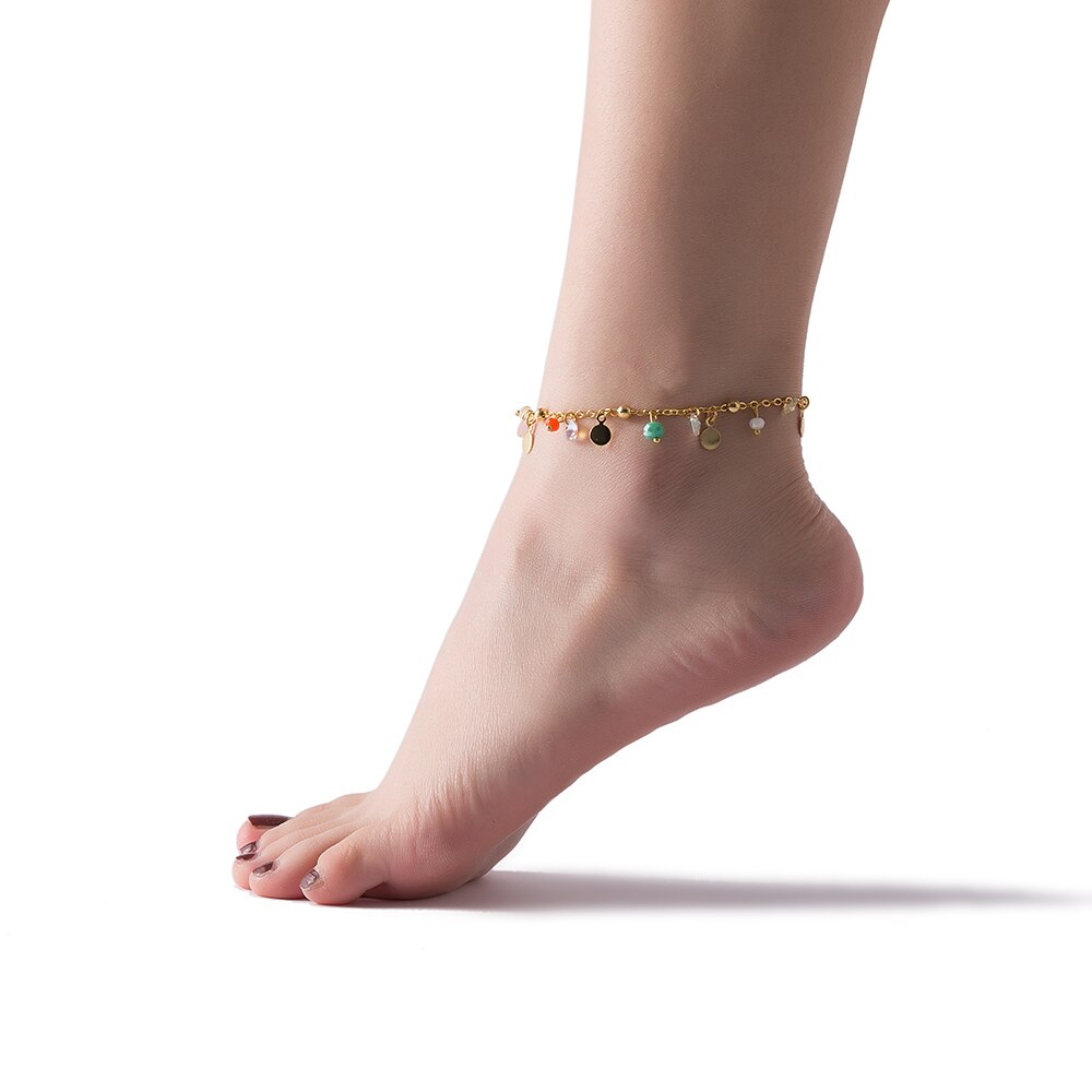 Gold Plated Charm Anklet Model