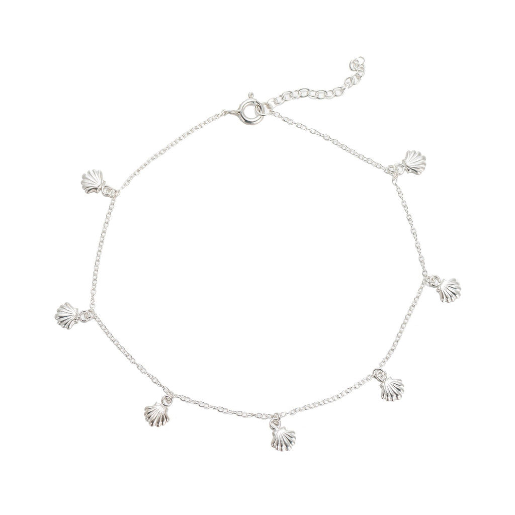 Sterling Silver Seashell Anklet