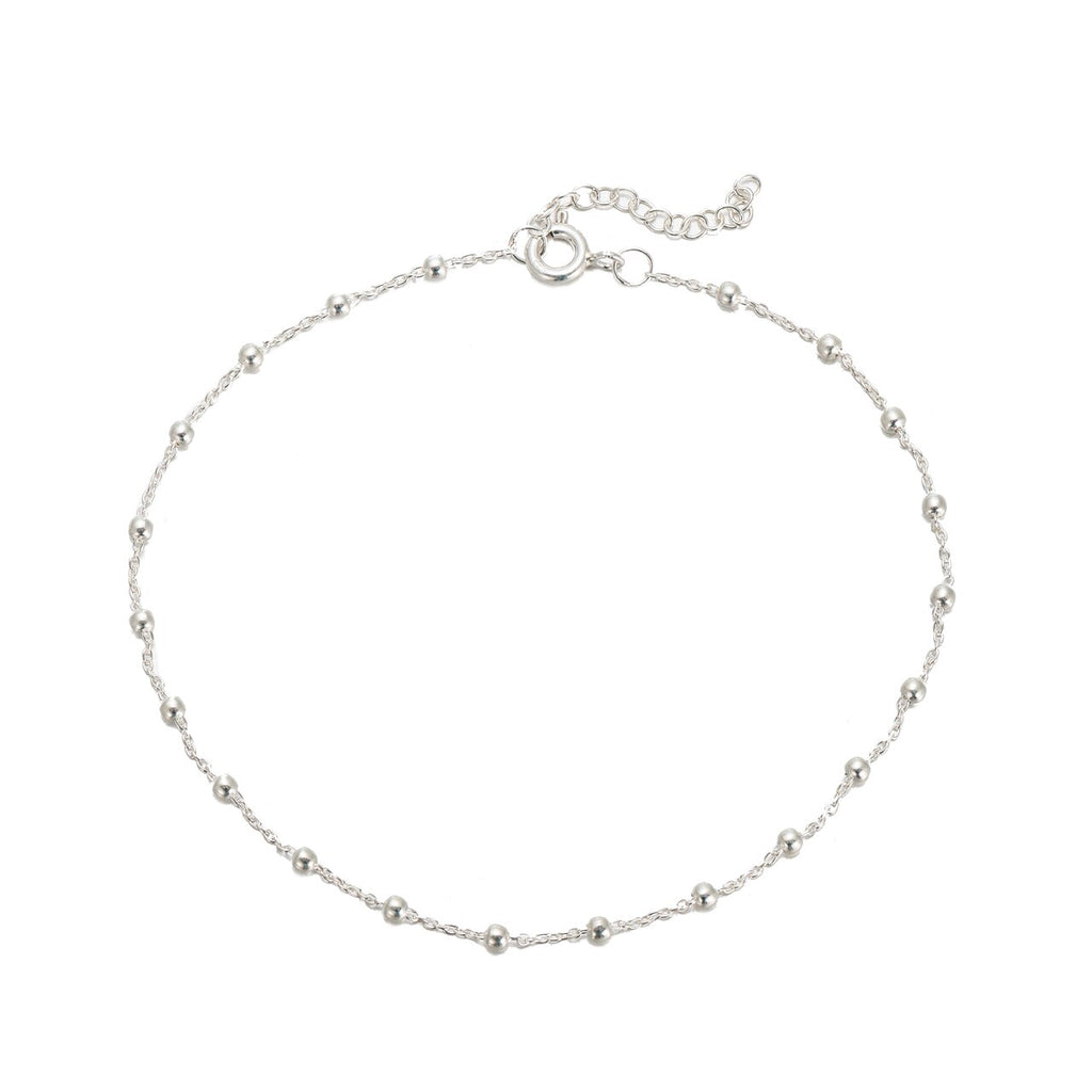 Sterling Silver Beads Anklet