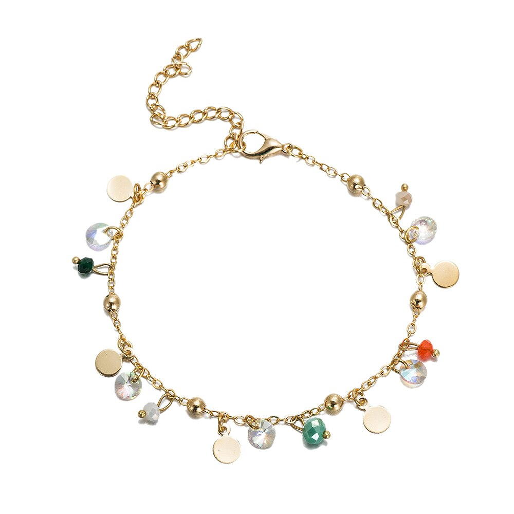 Gold Plated Charm Anklet