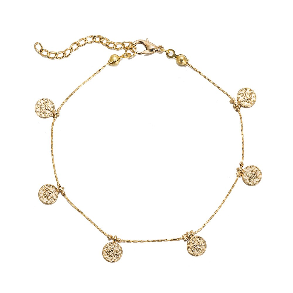 Gold Plated Ottoman Coin Anklet