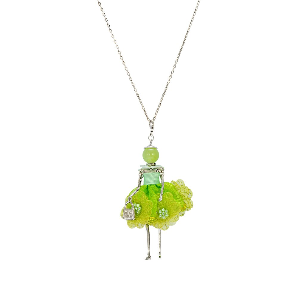 Light Green Flower Baby Doll Necklace