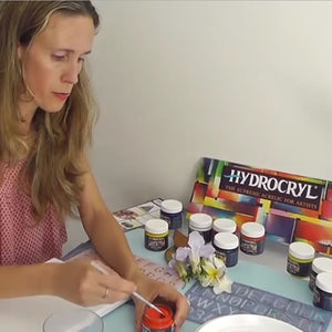 MamaCreatives PART 4: Yaeli Ohana exploring Hydrocryl paints
