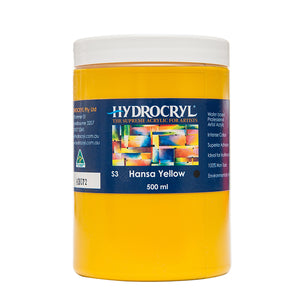 Hansa Yellow acrylic paint