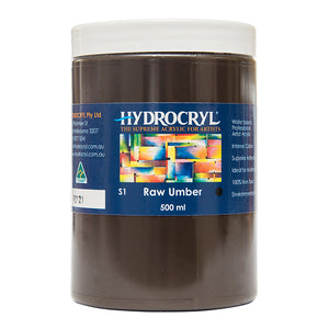 Raw Umber brown acrylic paint non toxic