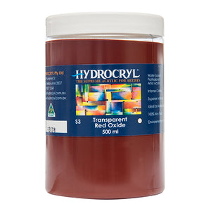 Transparent Red Oxide acrylic paint non toxic
