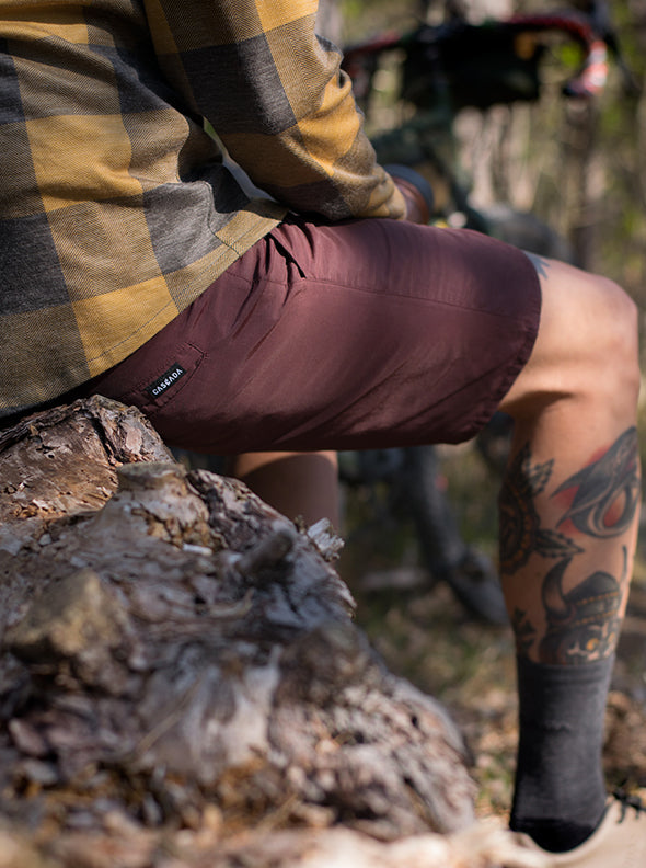 Lakewood Adventure Shorts - Burgundy