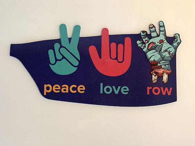 PeaceLoveRow Sticker