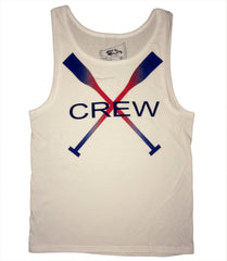 CREW Tank (White Cotton Unisex)