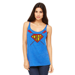 Supercrew Women's Racerback Tank Blue