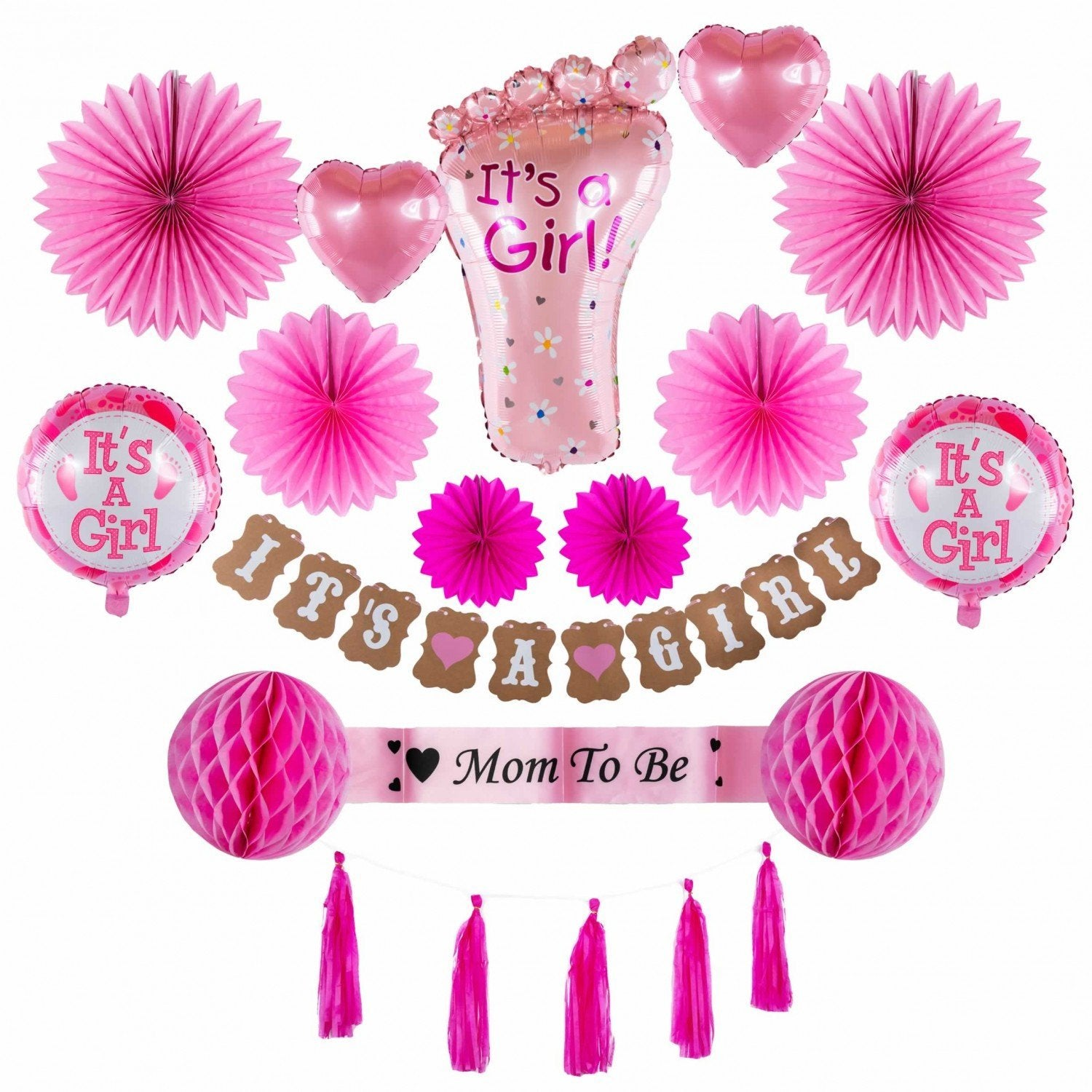Set aniversar baby shower- Baby girl -Mom to be - Adda Gifts