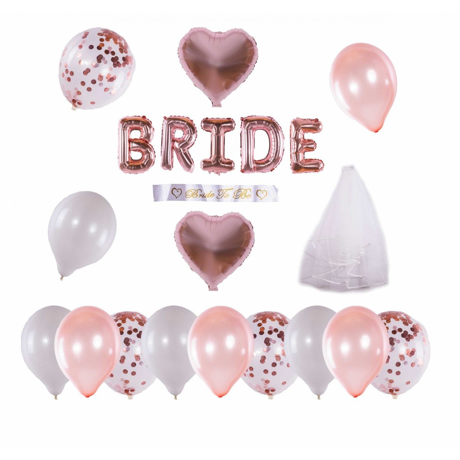 Set baloane-Bride to B - Adda Gifts