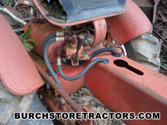 Ecomony yard tractor with hydraulics for sale for salvage