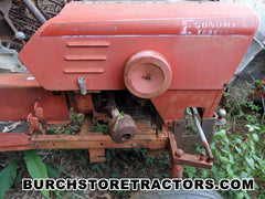 Economy yard tractor for salvage