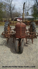 Farmall C front view with C254 cultivator