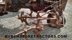 Farmall C tractor front cultivator toolbars