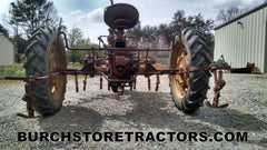 Farmall C tractor with C254 cultivator back view