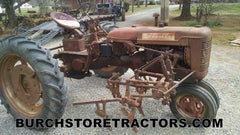 Farmall C tractor  with  C254 cultivator front right