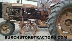Farmall C tractor with C254 left side setup