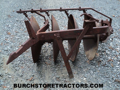 1 Point Fast Hitch 1-F14-D 4 Disc Harrow Plow Farmall Tractor